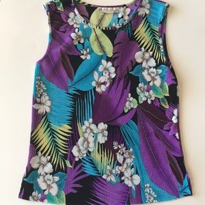 floral sleeveless top size small